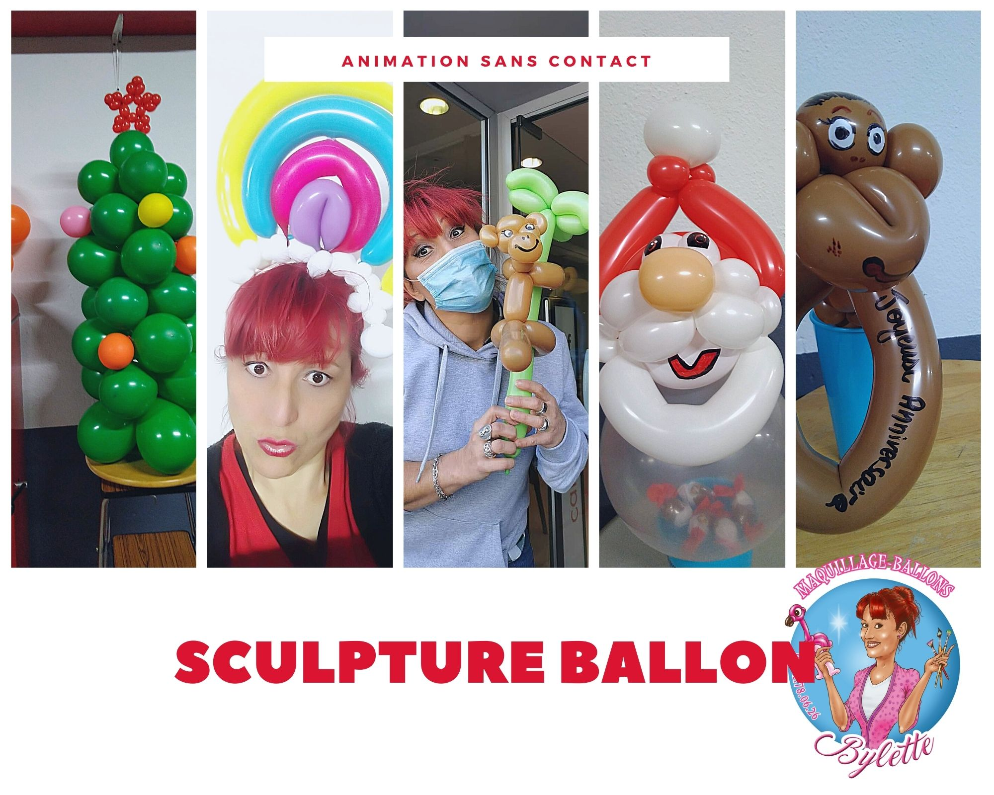 Animation sculpture ballon sans contact
